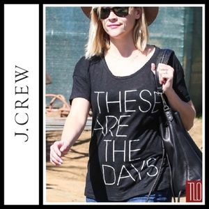 """J. Crew Black Scoop Neck Linen """"These are the days"""